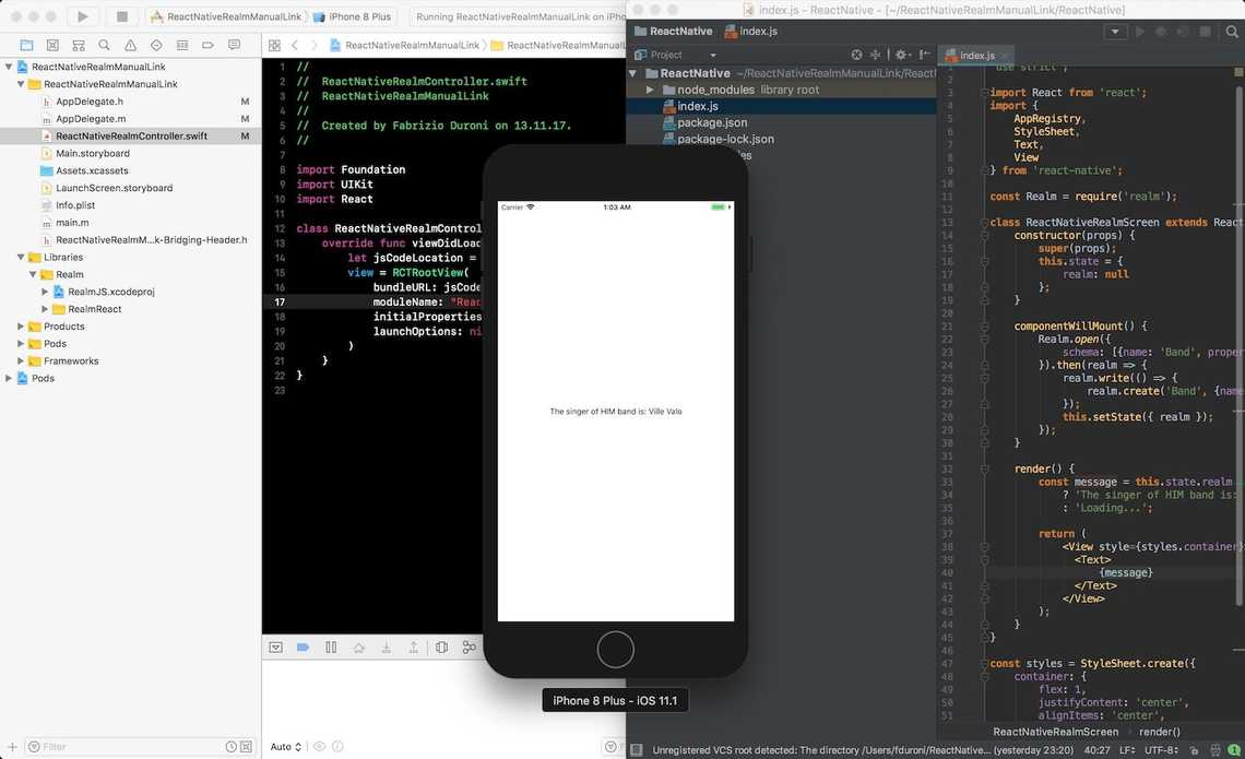 The example app compilation is working as expected and you can try to launch it