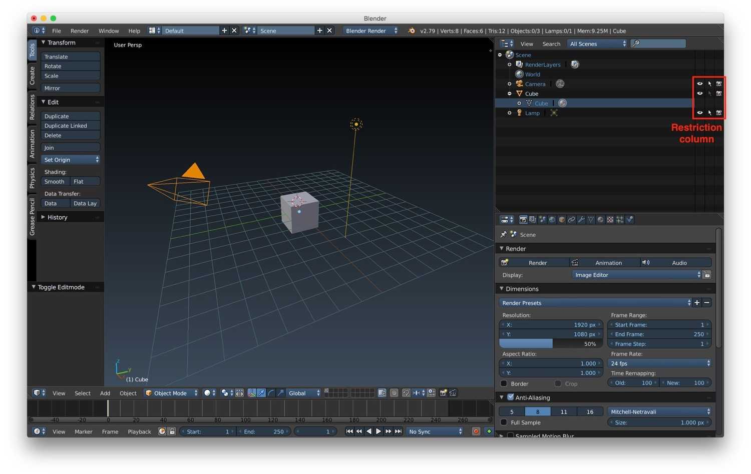 Blender tutorial: outliner, layers, groups, hierarchies and scenes